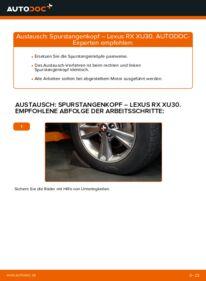 Wie der Wechsel durchführt wird: Spurstangenkopf 3.3 400h AWD Lexus RX XU30 tauschen
