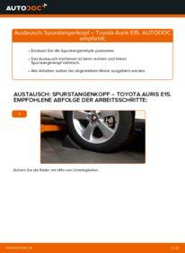 Wie der Wechsel durchführt wird: Spurstangenkopf 1.4 D-4D (NDE150_) Toyota Auris e15 tauschen
