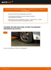 Wie der Wechsel durchführt wird: Spurstangenkopf 1.5 (NHW2_) Toyota Prius 2 tauschen