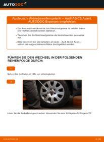 Wie der Wechsel durchführt wird: Antriebswellengelenk 2.5 TDI quattro Audi A6 C5 Avant tauschen
