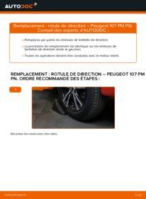 Comment effectuer un remplacement de Rotule De Direction sur 1.0 Peugeot 107 3/5 Portes