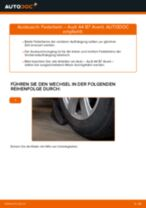 Wie Audi A4 B7 Avant Federbein vorne wechseln - Schritt für Schritt Anleitung