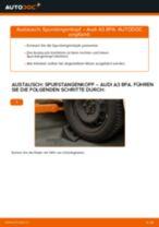 Wie Spurstangengelenk AUDI A3 austauschen und anpassen: PDF-Anweisung