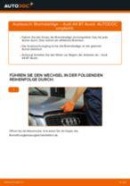 Wie Audi A4 B7 Avant Bremsbeläge hinten wechseln - Anleitung