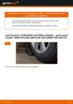 Schritt für Schritt Anweisungen zur Fehlerbehebung für AUDI Querlenker oben vorne/hinten