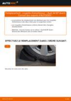 Changement Kit d'accessoires, plaquette de frein à disque AUDI A4 : manuel d'atelier