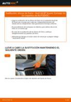 Cómo cambiar: discos de freno de la parte trasera - Audi A4 B7 Avant | Guía de sustitución