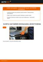 Kuinka vaihtaa jarrupalat taakse Audi A4 B7 Avant-autoon – vaihto-ohje