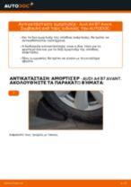 Πώς να αλλάξετε αμορτισέρ πίσω σε Audi A4 B7 Avant - Οδηγίες αντικατάστασης
