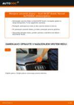 Kako zamenjati avtodel zavorni diski zadaj na avtu Audi A4 B7 Avant – vodnik menjave