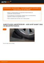 Como mudar amortecedores da parte traseira em Audi A4 B7 Avant - guia de substituição