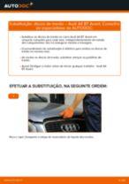 Como mudar discos de travão da parte traseira em Audi A4 B7 Avant - guia de substituição