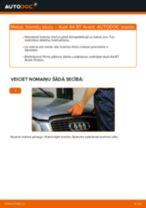 Kā nomainīt: aizmugures bremžu klučus Audi A4 B7 Avant - nomaiņas ceļvedis