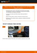 Kā nomainīt: aizmugures bremžu diskus Audi A4 B7 Avant - nomaiņas ceļvedis