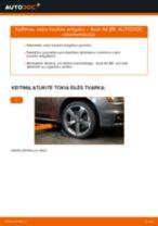 Kaip pakeisti ir sureguliuoti Skersinės vairo trauklės galas AUDI A4: pdf pamokomis