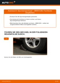Wie der Wechsel durchführt wird: Spurstangenkopf 523i 2.5 BMW E39 tauschen