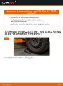 Wie der Wechsel durchführt wird: Spurstangenkopf 2.0 TDI 16V Audi A3 8P tauschen