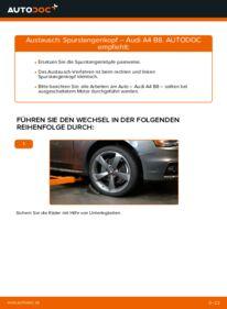 Wie der Wechsel durchführt wird: Spurstangenkopf 2.0 TDI Audi A4 B8 tauschen
