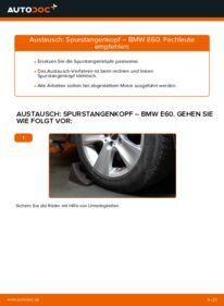 Wie der Wechsel durchführt wird: Spurstangenkopf 530d 3.0 BMW E60 tauschen
