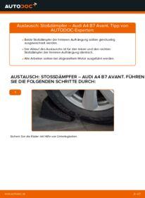 Wie der Wechsel durchführt wird: Stoßdämpfer 2.0 TDI Audi A4 B7 Avant tauschen