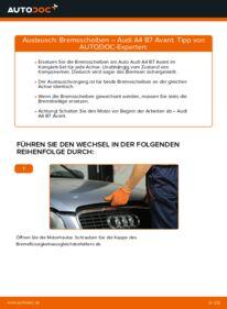Wie der Wechsel durchführt wird: Bremsscheiben 2.0 TDI Audi A4 B7 Avant tauschen