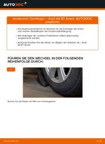 Wie der Wechsel durchführt wird: Domlager 2.0 TDI Audi A4 b7 tauschen