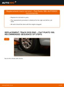 How to carry out replacement: Track Rod End on 1.3 D Multijet Fiat Punto 199
