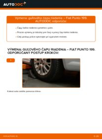 Ako vykonať výmenu: Hlava / čap spojovacej tyče riadenia na 1.3 D Multijet Fiat Punto 199