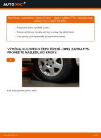 Jak provést výměnu: Hlava příčného táhla řízení na 2.0 DTI 16V (F75) Opel Zafira f75