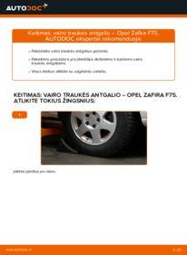 Kaip atlikti keitimą: 2.0 DTI 16V (F75) Opel Zafira f75 Skersinės vairo trauklės galas
