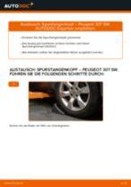 Austauschen von Spurgelenk Anweisung PDF für PEUGEOT 307