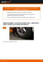 Comment changer : rotule de direction sur Mercedes W203 - Guide de remplacement
