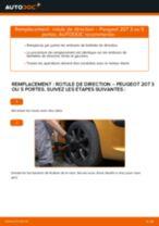 Changement Rotule De Direction PEUGEOT 207 : manuel d'atelier