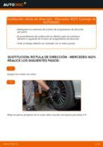 Reemplazar Rótula barra de acoplamiento MERCEDES-BENZ E-CLASS: pdf gratis