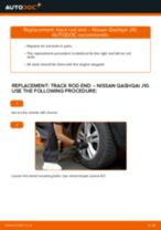 DIY manual on replacing NISSAN QASHQAI Track Rod End