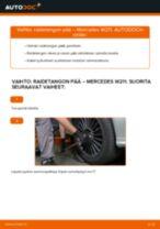 Kuinka vaihtaa raidetangon pää Mercedes W211-autoon – vaihto-ohje