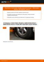 Instrukcja samodzielnej wymiany Końcówka drążka kierowniczego poprzecznego w MERCEDES-BENZ Klasa C