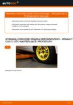 Kiedy wymienić Końcówka drążka kierowniczego poprzecznego RENAULT CLIO III (BR0/1, CR0/1): pdf poradnik
