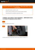 Naučte sa, ako vyriešiť problémy s Hlava / čap spojovacej tyče riadenia MERCEDES-BENZ