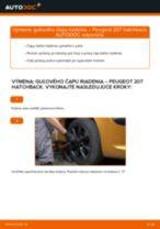 PEUGEOT Čap riadenia vymeniť vlastnými rukami - online návody pdf