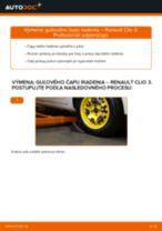 Výmena Hlava / čap spojovacej tyče riadenia RENAULT CLIO: dielenská príručka