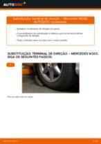 Como mudar terminal de direção em Mercedes W203 - guia de substituição