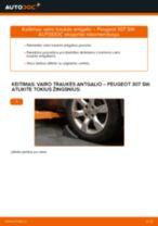 AUDI Q5 gale ir priekyje Stabdziu Apkabos Laikiklis pakeisti: žinynai pdf