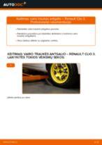 Montavimo Įsiurbimo vamzdis, oro filtras RENAULT CLIO III (BR0/1, CR0/1) - žingsnis po žingsnio instrukcijos