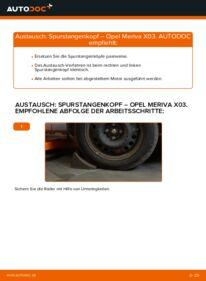 Wie der Wechsel durchführt wird: Spurstangenkopf 1.7 CDTI (E75) Opel Meriva A tauschen