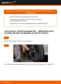 Wie der Wechsel durchführt wird: Spurstangenkopf E 220 CDI 2.2 (211.006) Mercedes W211 tauschen