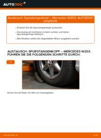 Wie der Wechsel durchführt wird: Spurstangenkopf C 220 CDI 2.2 (203.006) Mercedes W203 tauschen