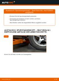 Wie der Wechsel durchführt wird: Spurstangenkopf 1.9 TDI Seat Ibiza 6l1 tauschen
