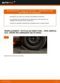 Comment effectuer un remplacement de Rotule De Direction sur 1.7 CDTI (E75) Opel Meriva x03