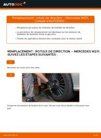 Comment effectuer un remplacement de Rotule De Direction sur E 220 CDI 2.2 (211.006) Mercedes W211